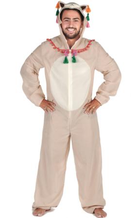 Lama voksen kostume 280x450 - Lama kostume til voksne