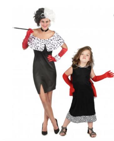 Parkostume Cruella mor og datter 364x450 - Cruella de vil kostume til børn
