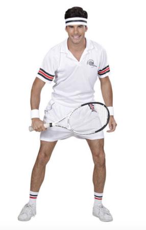 Tennis spiller kostume til voksne 286x450 - Hvide kostumer til voksne