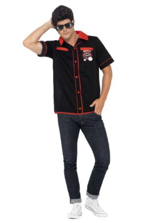 bowling kostume til voksne 50er kostume bowling udklædning bowling tøj