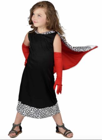 cruella børnekostume 327x450 - Cruella de vil kostume til børn