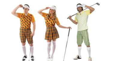 golfspiller kostume til voksne golf spiller udklædning til mænd golf udklædning kvinder sportskostume temafest sport bold kostume