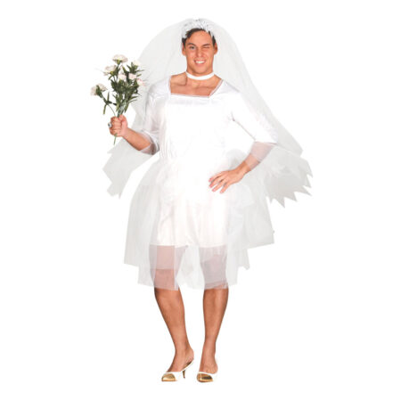 hvid mandlig brud kostume 450x450 - Hvide kostumer til voksne
