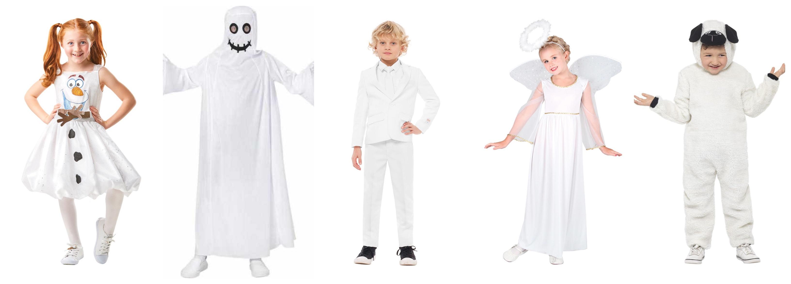 hvide børnekostumer - Hvide kostumer til børn