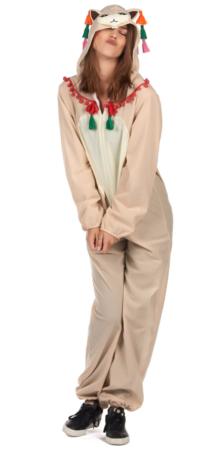 lama heldragt 214x450 - Lama kostume til voksne