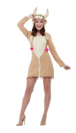lama kjole med hætte 259x450 - Lama kostume til voksne