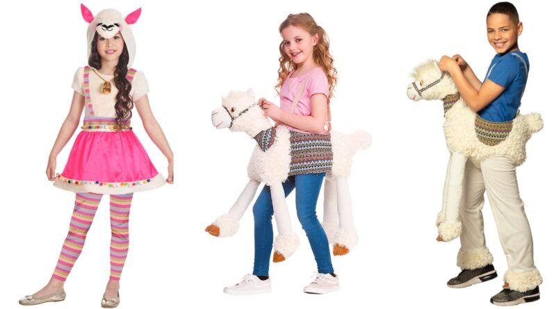 lama kostume til børn, lama udklædning til børn, lama kostumer, lama børnekostume, lama dyrekostume til børn, lama fastelavnskostume til børn, llama kostume til børn
