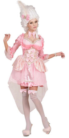 pink baronesse lyserød baronesse kostume 1800 tallet kostume 1700 tallet kostume til kvinder maskebal kostume hofbal kostume baronesse udklædning