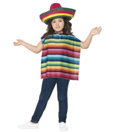 Mexicaner Sæt til børn 391x450 - Mexicaner kostume til børn