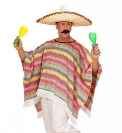 Mexicaner poncho og hat 414x450 - Mexicaner kostume til voksne