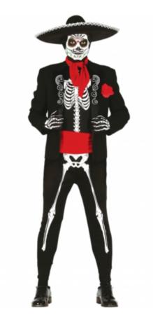 Mexicaner skeletkostume til mænd 219x450 - Mexicaner kostume til voksne