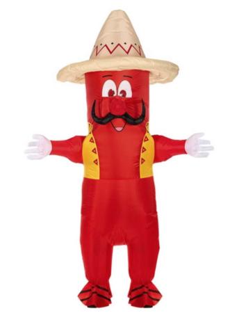 Oppusteligt mexicaner kostume 357x450 - Mexicaner kostume til voksne