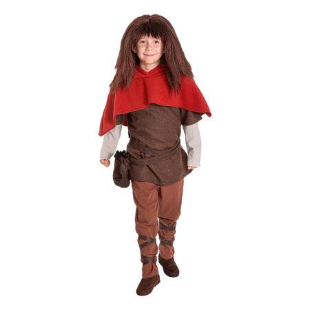 Ronja røverdatter børnekostume 450x450 - Ronja Røverdatter kostume til børn og voksne