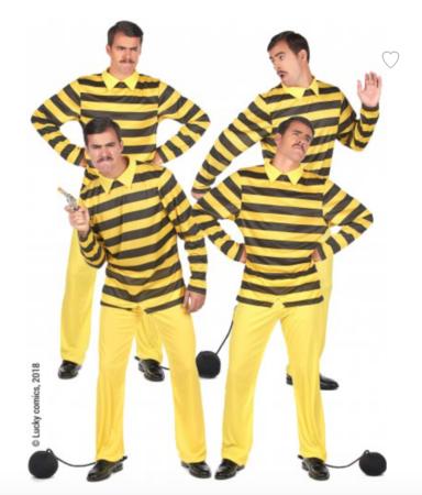 dalton brødrene gruppekostume 384x450 - Lucky Luke kostume til voksne