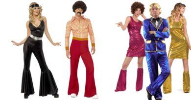 disco kostume til voksne disko udklædning til voksne 70erne kostume til voksne 70erne udklædning gruppe kostume par kostume 390x205 - Disco kostume til voksne