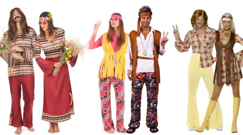 hippie par kostume til voksne 1960erne kostume temafest 1960erene udklædning tøj til 1960erne temafest hippie udklædning til voksne 800x445 - Hippie par kostume til voksne