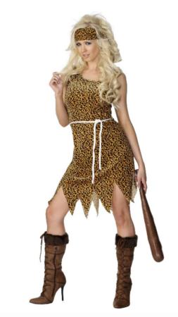 huledame kostume til voksne 253x450 - Hulemand kostume til voksne
