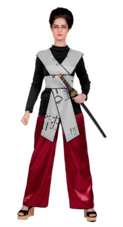 kinesisk kampkvinde kostume 244x450 - Kinesisk kostume til voksne