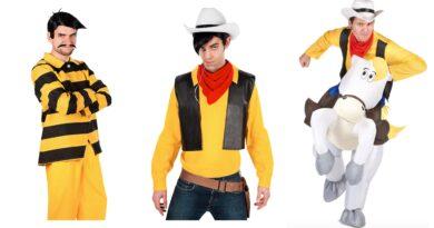 lucky luke kostume til voksne, lucky luke udklædning til voksne, lucky luke voksenkostume, cowboy voksenkostume, cowboy kostume til voksne, lucky luke fastelavnskostume til voksne, dalton brødrene kostume
