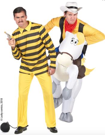 lucky luke par kostume 351x450 - Lucky Luke kostume til voksne