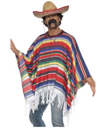 mexicaner poncho  382x450 - Mexicaner kostume til voksne