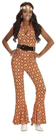 orange disko dragt disko udklædning til kvinder