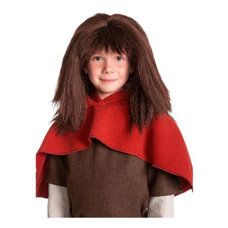 ronja røverdatter børneparyk 450x450 - Ronja Røverdatter kostume til børn og voksne