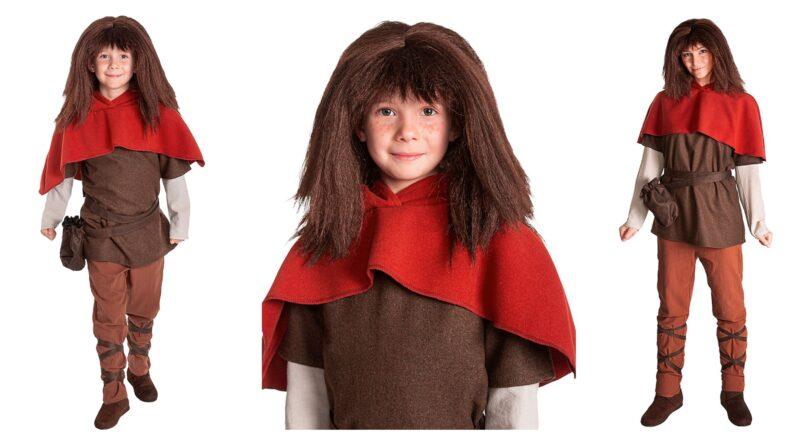 ronja røverdatter kostume til børn, ronja røverdatter kostume til voksne, ronja røverdatter børnekostume, ronja røverdatter voksenkostume, ronja røverdatter fastelavnskostume, middelalder kostumer til børn, middelalder kostumer til voksne