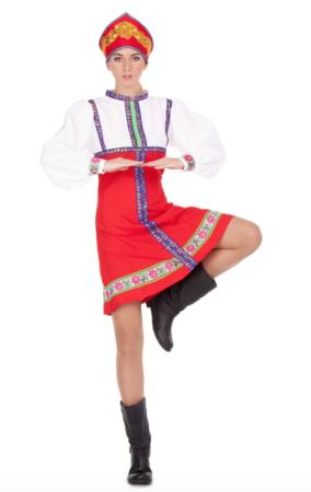 russisk danserinde kostume 284x450 - Russisk kostume til voksne