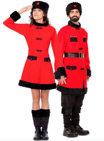 russisk par kostume 332x450 - Russisk kostume til voksne