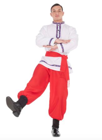 traditionel russisk danser kostume 327x450 - Russisk kostume til voksne