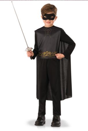 zorro kostume 305x450 - Zorro kostume til børn - den maskerede hævner