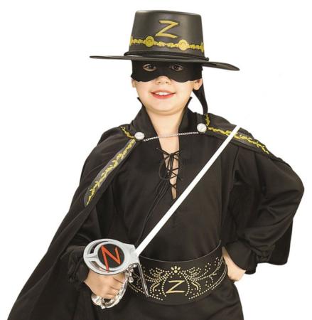 zorro kostume sæt 439x450 - Zorro kostume til børn - den maskerede hævner