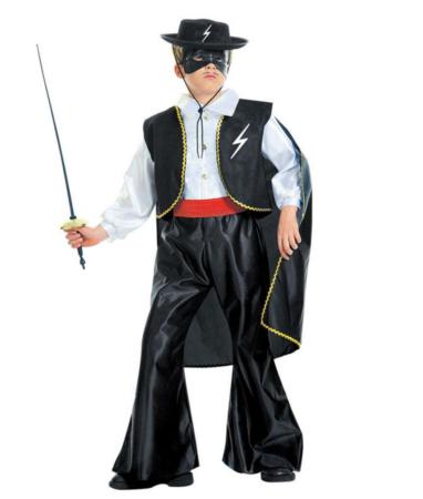 zorro kostume til børn 382x450 - Zorro kostume til børn - den maskerede hævner