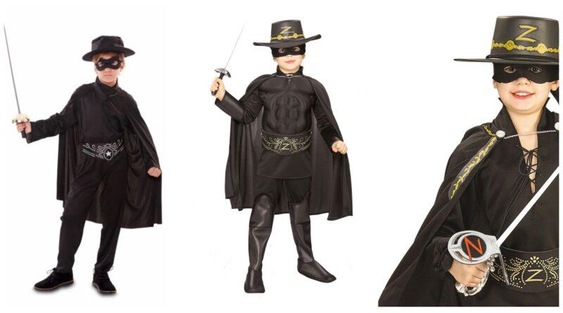 zorro kostume til børn, zorro udklædning til børn, zorro børnekostumer, zorro fastelavnskostume til børn, helte kostume til børn, sorte kostumer til børn, zorro udklædning til børn