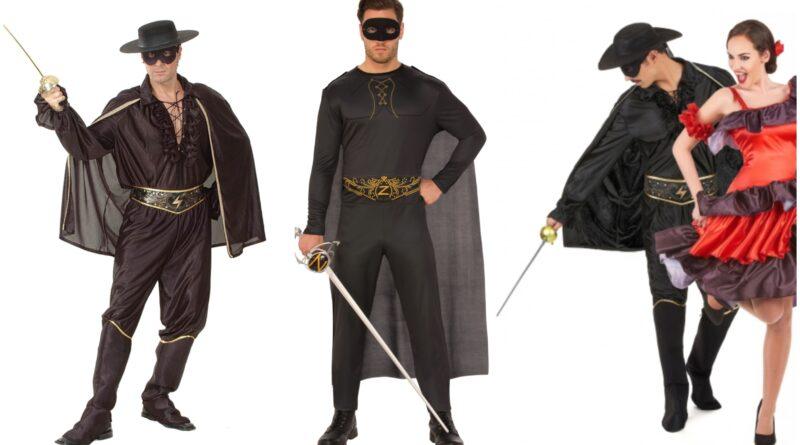 zorro kostume til voksne, zorro udklædning til voksne, zorro voksenkostumer, zorro kostumer, zorro fastelavnskostume til voksne, sorte kostumer til voksne