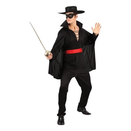 zorro udklædning 450x450 - Zorro kostume til voksne