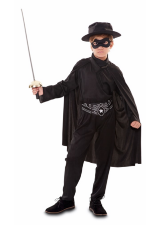 zorro udklædning til børn 319x450 - Zorro kostume til børn - den maskerede hævner