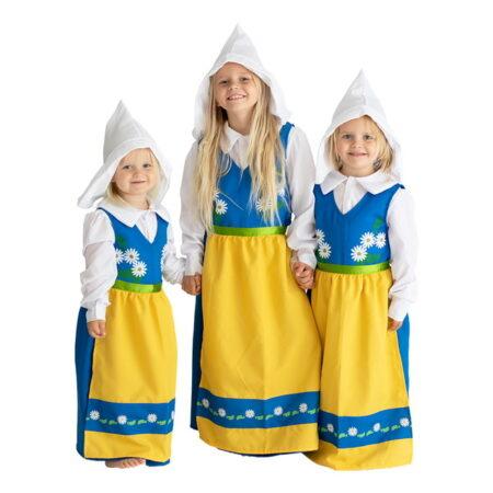 svensk folkedragt til børn svensk nationaldragt til piger sverige nationaldragt til børn