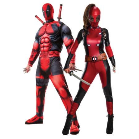 deadpool kostume deadpool par kostume deadpool udklædning til voksne superhelt kostume til par