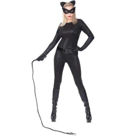 Sort catwoman kostume 419x450 - Katte kostume til voksne