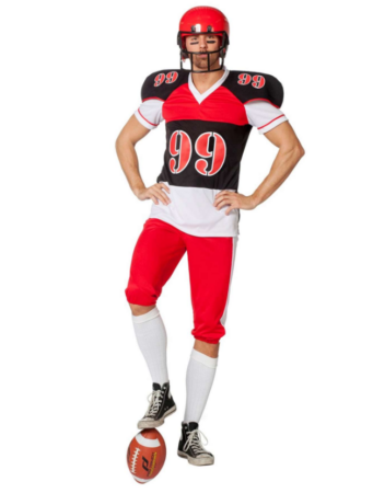 amerikansk fodboldspiller kostume amerikansk fodbold udklædning amerikansk kostume sportskostume
