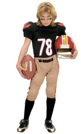 amerikansk fodboldspiller kostume til børn amerikansk fodbold kostume til børn USA kostume til børn sportskostume til børn