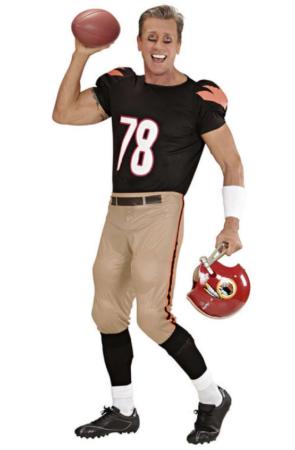amerikansk kostume amerikansk fodboldspiller udklædning til voksne USA kostume til voksne