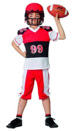 fodboldspillerkostume fodbold kostume til børn USA kostume til børn