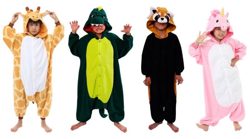 kigurumi til børn, sjov heldragt til børn, børnekigurumi, japansk dyrekostume, japansk heldragt, kigurumi kostume til børn, kigurumi fastelavnskostume til børn, kigurumi budget børn,