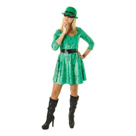 kvindelig gækker kostume riddler kostume til kvinder batman skurke kostume til voksne grønt kostume til kvinder
