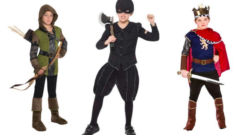 middelalder kostume til børn, middelalder børnekostumer, middelalder kostume til drenge, middelalder kostume til piger, middelalder fastelavnskostume