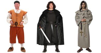 middelalder kostume til mænd, middelalder kostume til voksne, middelalder voksenkostumer, middelalder udklædning til mænd, rollespil kostumer til mænd