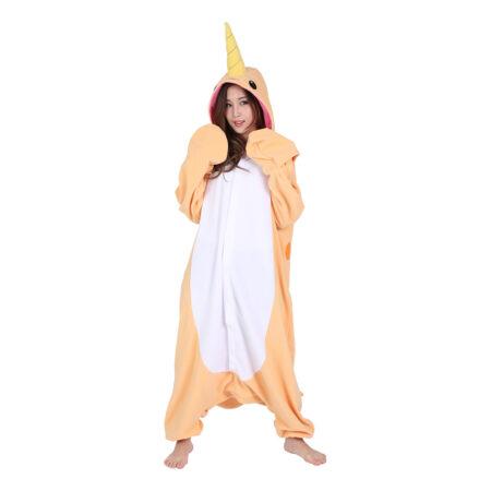 narhval kigurumi kostume til voksne 450x450 - Kigurumi til voksne - heldragt til voksne